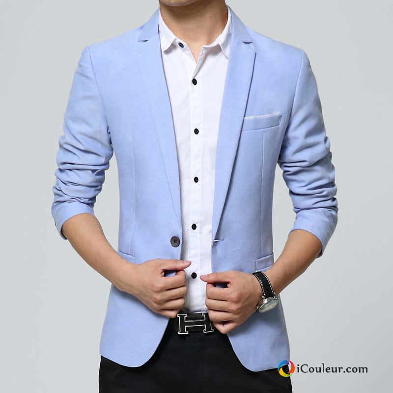 blazer homme costume l 39 automne petit costume mariage hiver d contract e bleu en vente. Black Bedroom Furniture Sets. Home Design Ideas