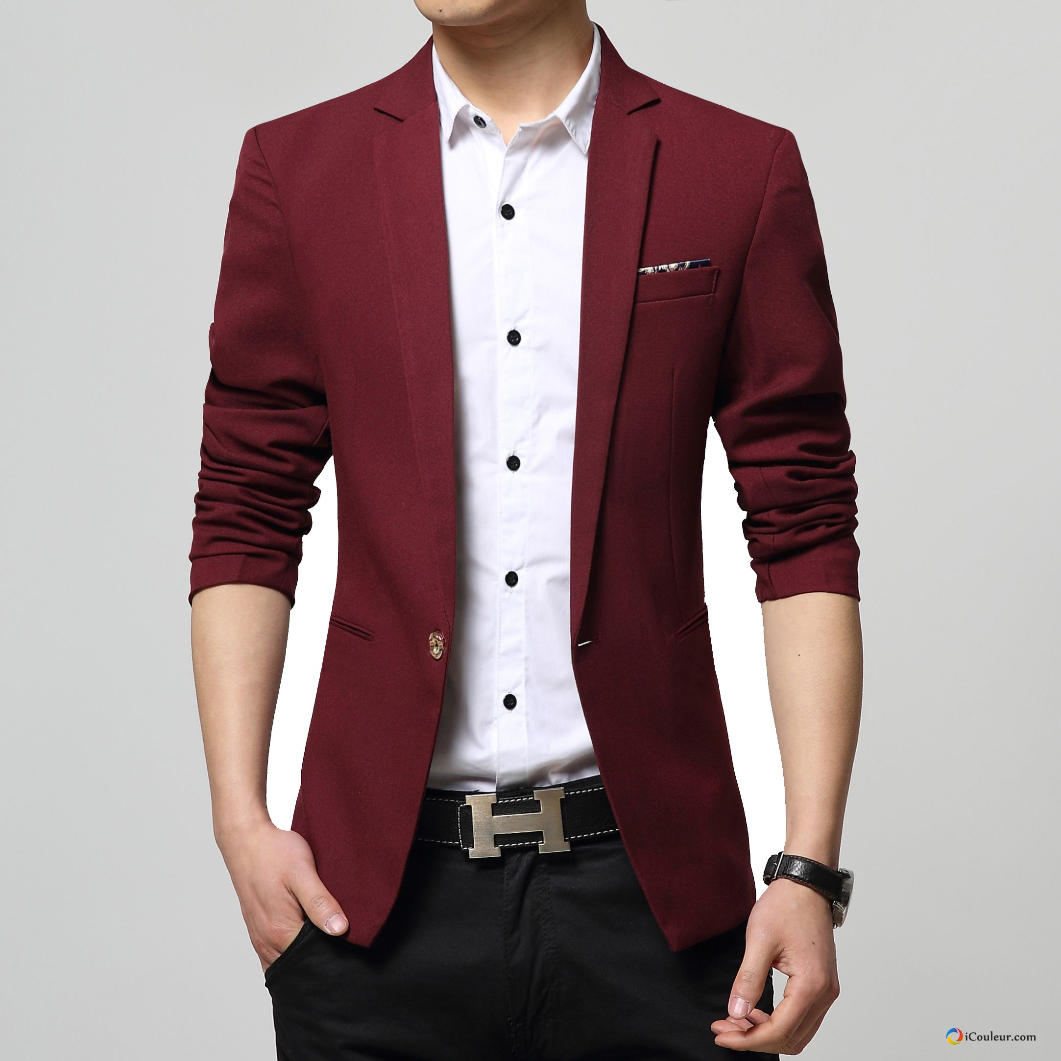 homme une veste jeunesse costume petit costume printemps blazer rouge pas cher. Black Bedroom Furniture Sets. Home Design Ideas