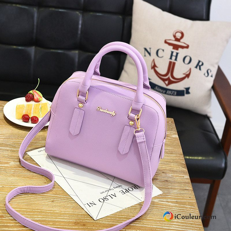 Sac À Main Peau Douce Petit Portable Femme Simple All-match Mode Violet