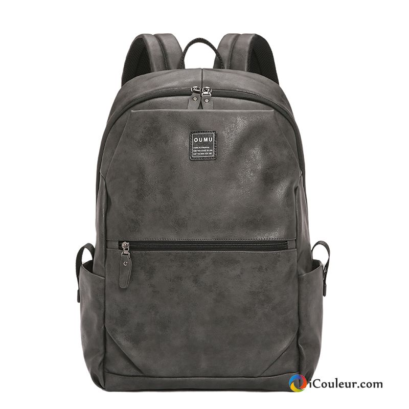 Simple Tendance Mode Cartable Homme Sac À Dos Sac D'ordinateur Portable Saphir